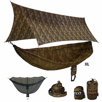 ENO - CamoLink XL Onelink Hammock Forest Camo Hunting Blind Sleep System