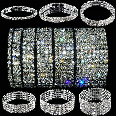 Women's Bling Crystal Stretch Elastic Bracelet Bangle Wristband Fashion Jewelry