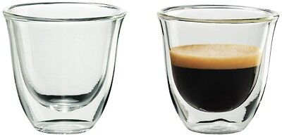 NEW De'Longhi Espresso Thermo Glasses 2 Pack 5513214591 Tumblers