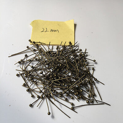1000pcs! Bronze Color Ball Head Pin Jewelry Finding 15mm 18mm 20mm 22mm 50mm