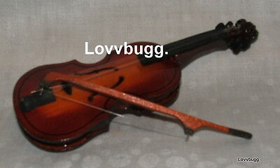 Wood Violin wBow for 15-18 inch American Girl Lovvbugg Best Variety Accessory