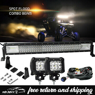 "30"" 32''180w  LED Light Bar Kit +4 inch Pods &wiring POLARIS RZR 900 2015-2016"