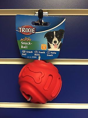 Trixie Natural rubber Red Treat Ball Large 8cm Level 1 interactive toy