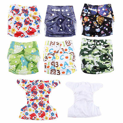 Baby Cloth Nappy Reusable Cloth Nappies Diaper Covers Liner Underwear Pants T