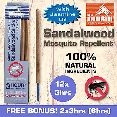 New Mountain® 100% Natural Mosquito Repellent 'Ylang Ylang Oil' 3hrs x 12 pack
