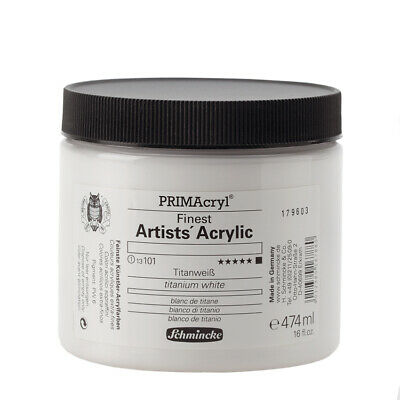 (70,11€/1l) PRIMAcryl Finest Artists' Acrylic Titanweiß 474ml