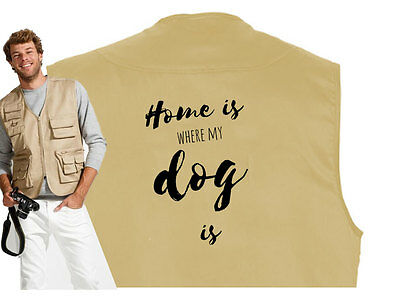 MIL-TEC HUNDESPORT WESTE Outdoor-Weste: Home is where my dog is