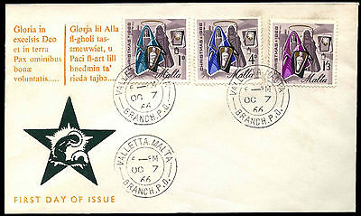 Malta 1966 Christmas FDC First Day Cover #C40021