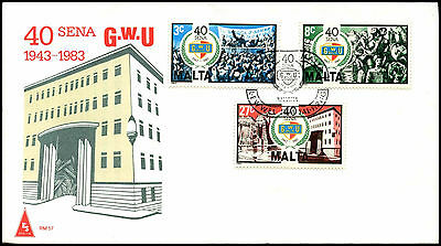 Malta 1983 General Workers Union FDC First Day Cover #C40018