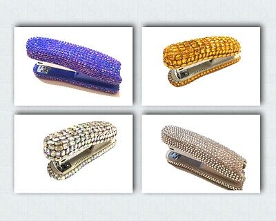 Blingustyle bling Iridescent Diamante Crystal Stapler For Office/Home gift box