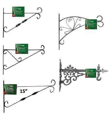 "10""/12""/15""/16"" Metal Wall Hanging Bracket Flower/planter Basket Decorative Cast"