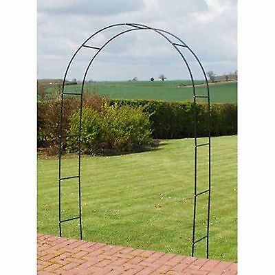 Garden Metal Arch & Obelisk Black Heavy Duty Strong Tubular Rose Climbing Plants
