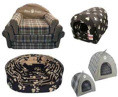 Cat Dog Pet Bed Animal Tent Warm Cosy Comfy Soft Cuddly Washable Basket Cushion