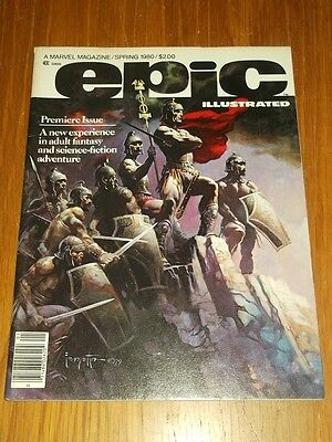 Epic Illustrated #1 Spring 1980 Marvel Us Magazine Science Fiction Fantasy<