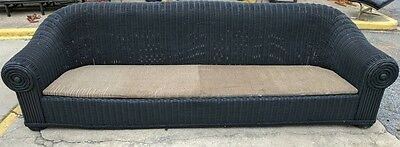 9 1/2 ft wide Wicker Rattan Sofa - Custom Made