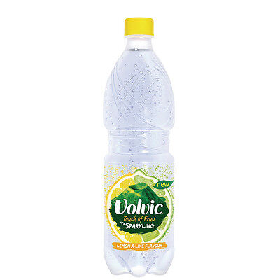 Volvic Touch of Fruit Lemon and Lime Flavoured Sparkiling Water 500ml 106446
