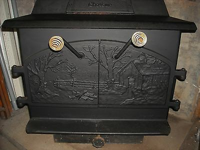 Vintage Steel Wood Burning Stove Model Chaleur Local Pickup Only!