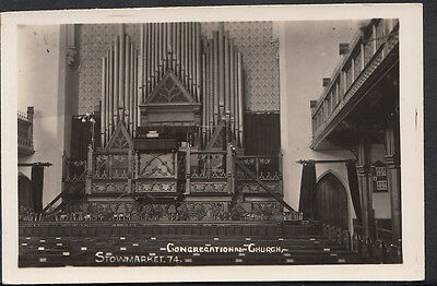 Suffolk Postcard - Interior of Congregational Church, Stowmarket  B1096