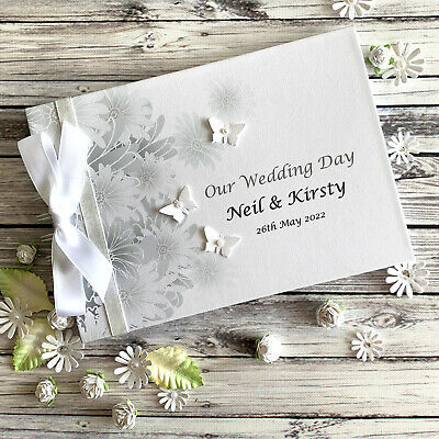 Personalised Wedding Engagement Anniversary Couples Guest Book Scrapbook Album