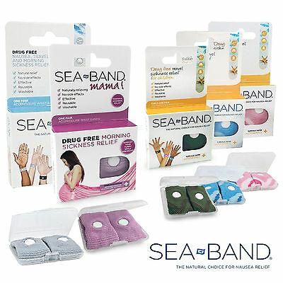 SEA-BAND WRISTBAND Nausea, Anti Motion & Morning Sickness Relief - FREE UK P&P
