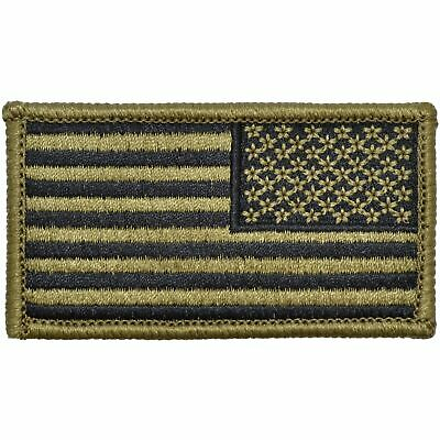 USA American Flag Patch Hook Backing Multicam/OCP/Scorpion Army