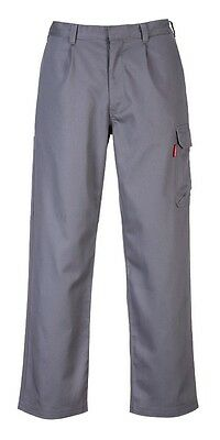 24 Pack - Portwest BZ31 Bizweld Cargo Pants 3XLR Gray