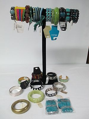 New Colorful Fashion / Costume Bangle Bracelet Lot 32 * Assorted Materials