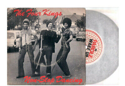 """The Four Kings Non  - Stop Dancing  + Rock 'n'roll (Is Here  To Stay ) 7""""45 Rpm"""
