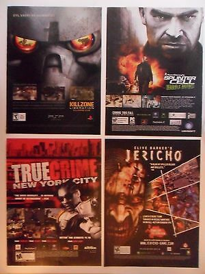 Lot of 20 Shooter Video Game Magazine Print Ads ~ Call of Duty, Killzone ++
