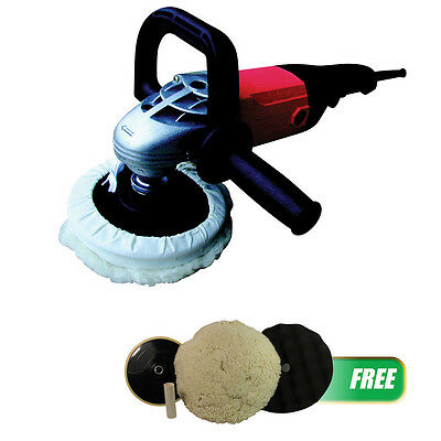 "ATD Tools 10511P 7"" Shop Polisher with Soft Start with FREE Pad Kit"