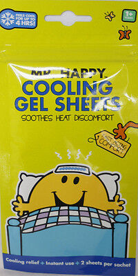 Cooling Gel Sheets Soothe Children Kids Fever Immediate Cooling Relief 2 Sheets