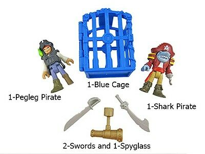Fisher Price Imaginext Shark Bite Pirate Ship Replacement Pirate Figures & Parts