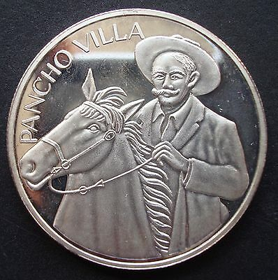 Mexico Francisco Villa Onza Silver Proof.999 See The  coin
