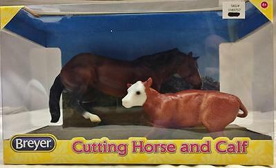 Breyer Horse Classics - No.61091 Cutting Horse and Calf In Box NEW 1:12 Scale