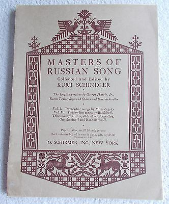 Masters Russian Song Vol 1 Moussorgsky 25 Songs English Unmarked