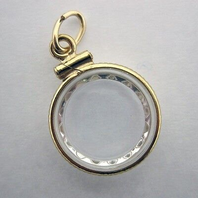Gold Nugget Holder 13Mm Gold Filled  2 Watch Crystals & Jump Ring