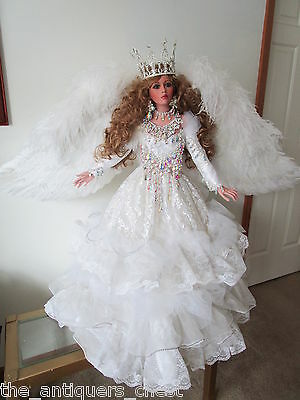 "CELESTIAL ANGEL doll by Rustie  34"" Artist Original, #1, one-of-a-kind"