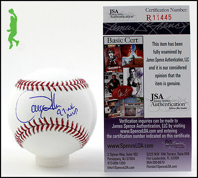 Larry Walker 97 Nl Mvp Autographed Signed Romlb Baseball Ball Rockies Jsa Coa