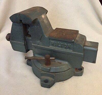 "Vintage Wilton Heavy-Duty 5-1/2"" Jaw opening Swivel Bench Vise GREAT!"