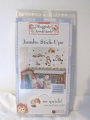 *NEW* CLASSIC  Raggedy Ann & Andy Jumbo Stick-Ups BY  Priss Print 20+ STICKERS