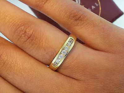 14k Solid Yellow Gold 0.50 Ct Round Cut Diamond Wedding Band Channel Set Ring