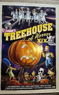 Huge Simpsons Poster - Treehouse of Horror XIX - About 27x39 Inches