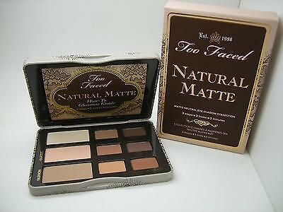 Too Faced Nib Natural Matte 9 Color Neutral Eye Shadow Collection Palette