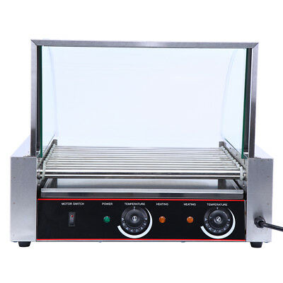 Commercial 11 Roller 30 Hotdog Grill Cooker Warmer Hot Dog Grill Machine