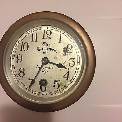 Antique Solid Brass Ships Gamewell Chronometer/Clock sn#156108