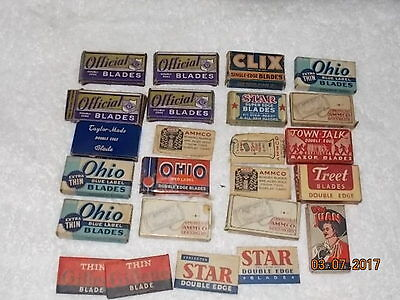 Large Assortment of Vintage RAZOR BLADES in Original Boxes, Sleeves