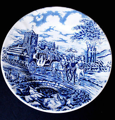 "Blue Royal Wessex - Royal Mail Bread & Butter Plate 6½""  Made in England"