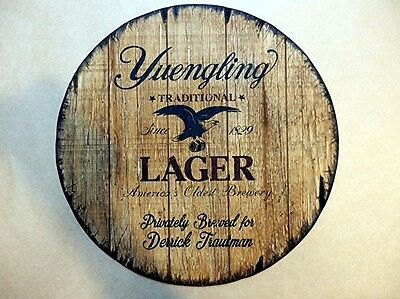 Yuengling Lager Personalized decorative Sign - barrel top | Handpainted artwork
