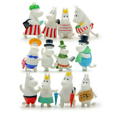 12pcs Moomin Valley Toy Set Snufkin Snorkmaiden Little My Sniff Action Figures