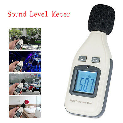 LCD Digital Sound Level Decibel Meter Noise Tester 30-130dBA  Noise Measurement